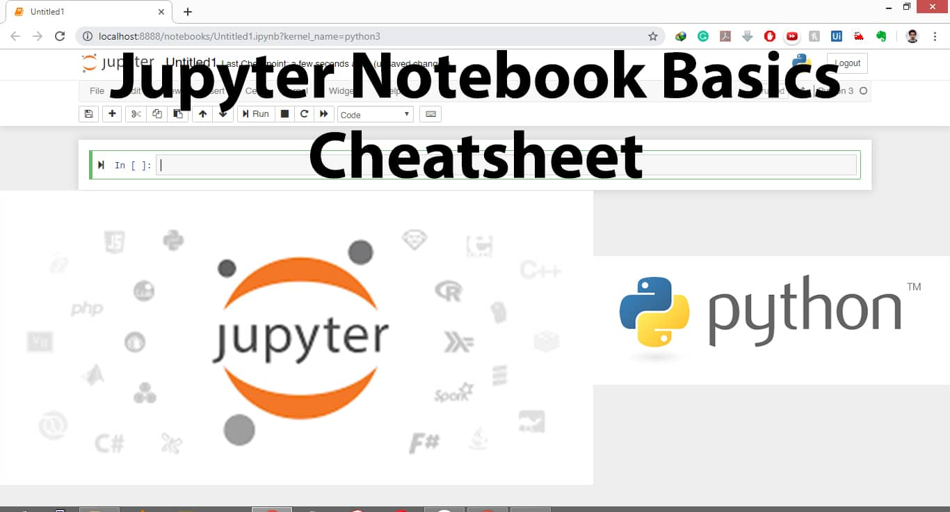 jupyter notebook basics with cheatsheet