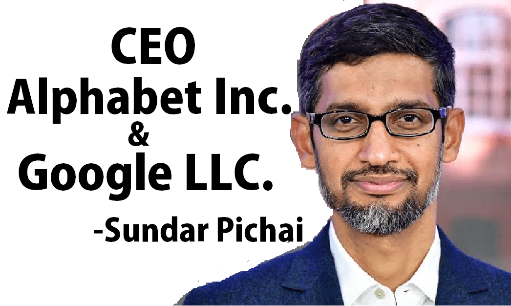 Sundar Pichai CEO alphabet and Google CEO