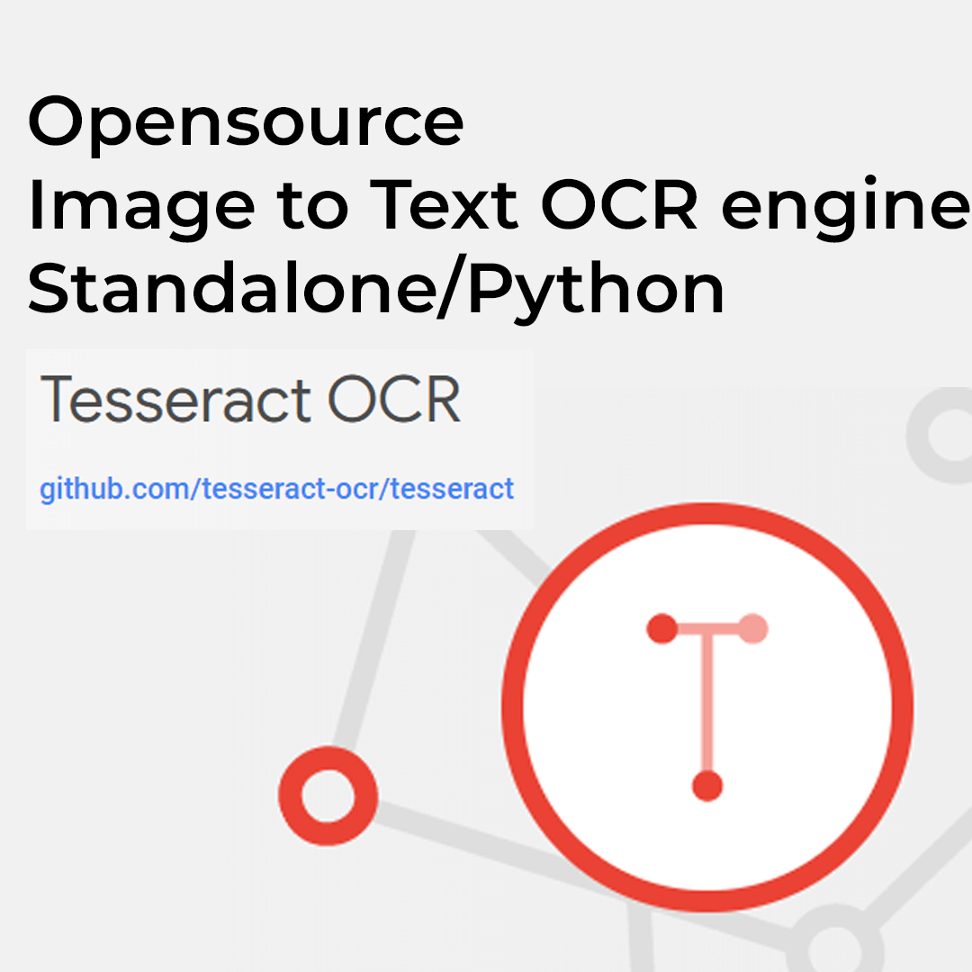 opensource text to image ocr