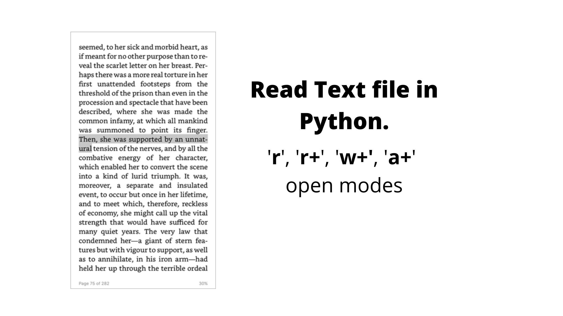 Read Text file in Python.