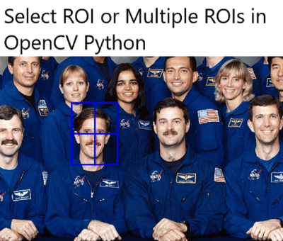 Select roi in opencv python