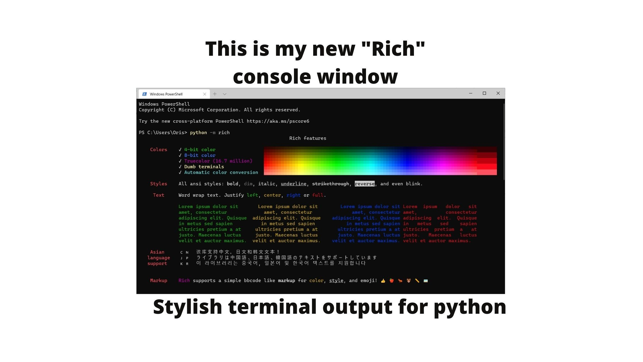 Python rich library